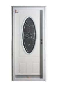 Six Panel Steel 3/4 Oval Combo Door